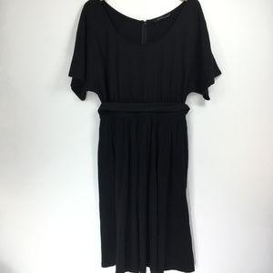 eShakti Custom 10? M Dress A-Line Black Pockets